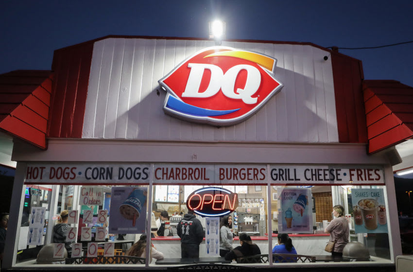 Patrons gather inside a Dairy Queen restaurant (Photo by Mario Tama/Getty Images)
