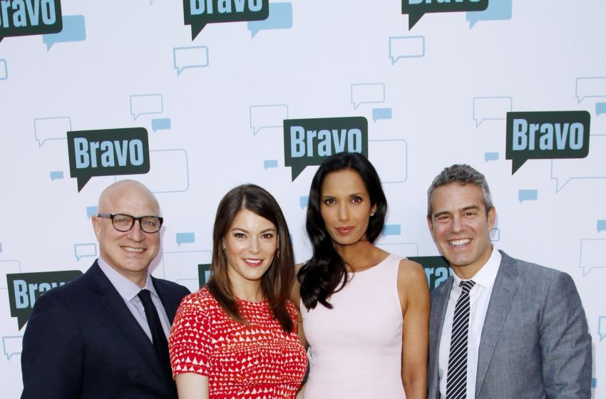 NORTH HOLLYWOOD, CA - MAY 01: (L-R) Tom Colicchio, Gail Simmons, Padma Lakshmi and Andy Cohen attend A Night With