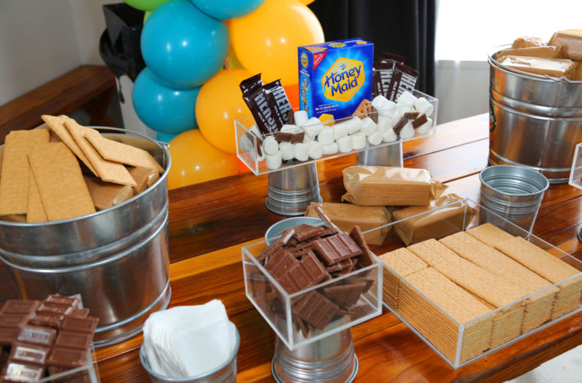 A general view at the S'mores station. (Photo by Rachel Murray/Getty Images for Elizabeth Glaser Pediatric AIDS Foundation)