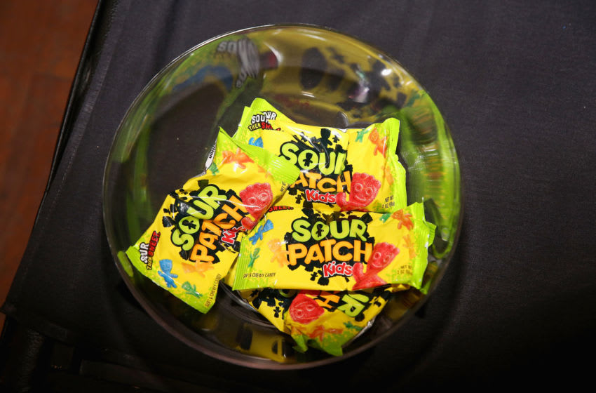 PARK CITY, UT - JANUARY 21: Sour Patch Kids on display at the Billboard Winterfest at Park City Live! on January 21, 2016 in Park City, Utah. (Photo by Mat Hayward/Getty Images for Billboard)
