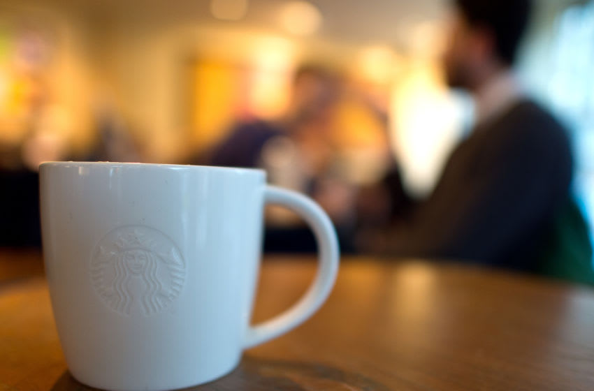 LONDON, ENGLAND - FEBRUARY 17: A venti sized chai latte pictured in a Starbucks on February 17, 2016 in London, England. Today Action on Sugar announced the results of tests on 131 hot drinks which showed that some contained over 20 teaspoons of sugar. The NHS recommends a maximum daily intake of seven teaspoons or 30 grams of sugar. (Photo by Ben Pruchnie/Getty Images)