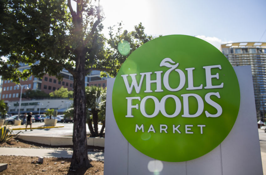 AUSTIN, TX - JUNE 16: Whole Food flagship store in Austin, Texas photographed June 16, 2017. Amazon announced that they purchased the grocer for over 13 billion dollars. (Photo by Drew Anthony Smith/Getty Images)