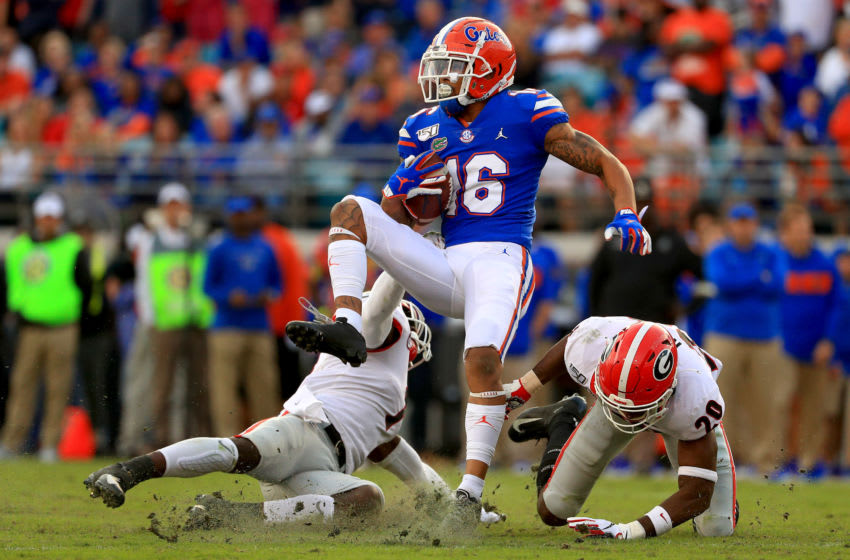 Freddie Swain #16 of the Florida Gators (Photo by Mike Ehrmann/Getty Images)