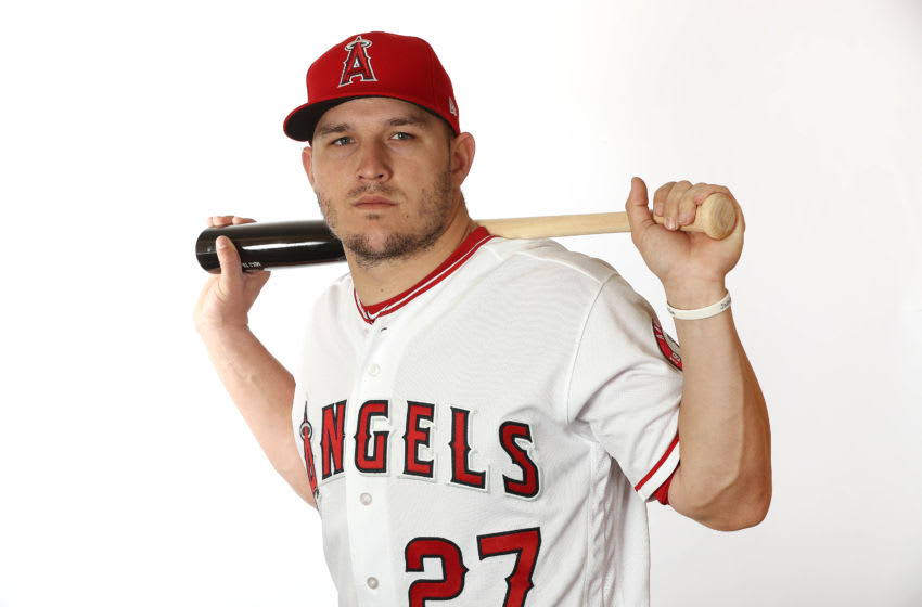 Mike Trout, Los Angeles Angels, (Photo by Jamie Squire/Getty Images)