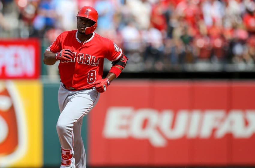 Justin Upton, Los Angeles Angels, (Photo by Scott Kane/Getty Images)