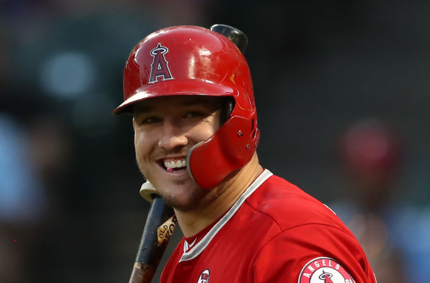 Mike Trout of the Los Angeles Angels is on his way to one of the best decades ever. (Photo by Ronald Martinez/Getty Images)