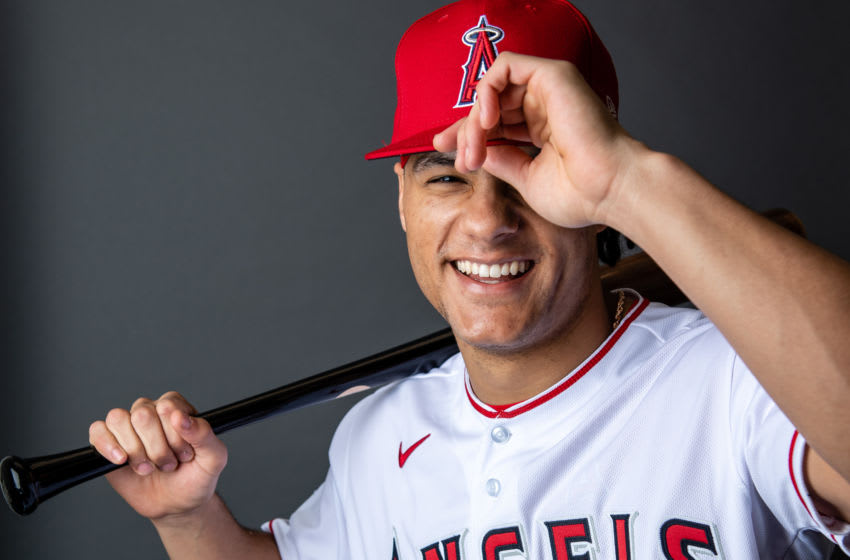 Michael Hermosillo, Los Angeles Angels, (Photo by Jennifer Stewart/Getty Images)