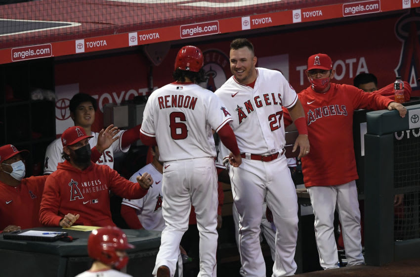 Anthony Rendon, Mike trout, Los Angeles Angels (Photo by Kevork Djansezian/Getty Images)