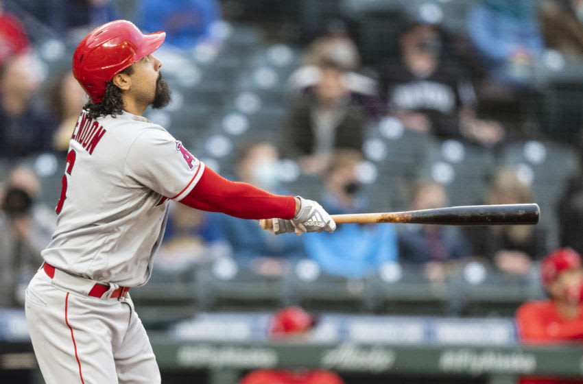 Anthony Rendon, Los Angeles Angels (Photo by Stephen Brashear/Getty Images)