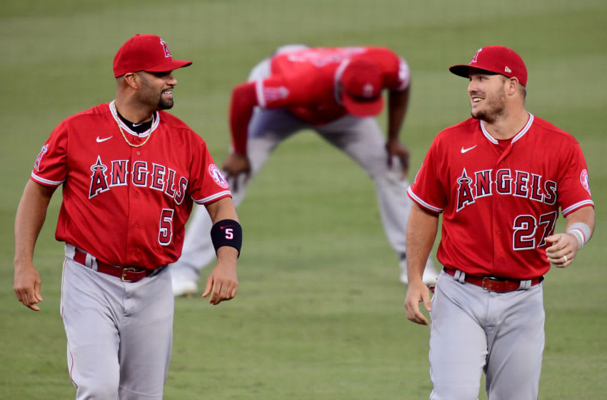 Albert Pujols, Mike Trout, Los Angeles Angels (Photo by Harry How/Getty Images)
