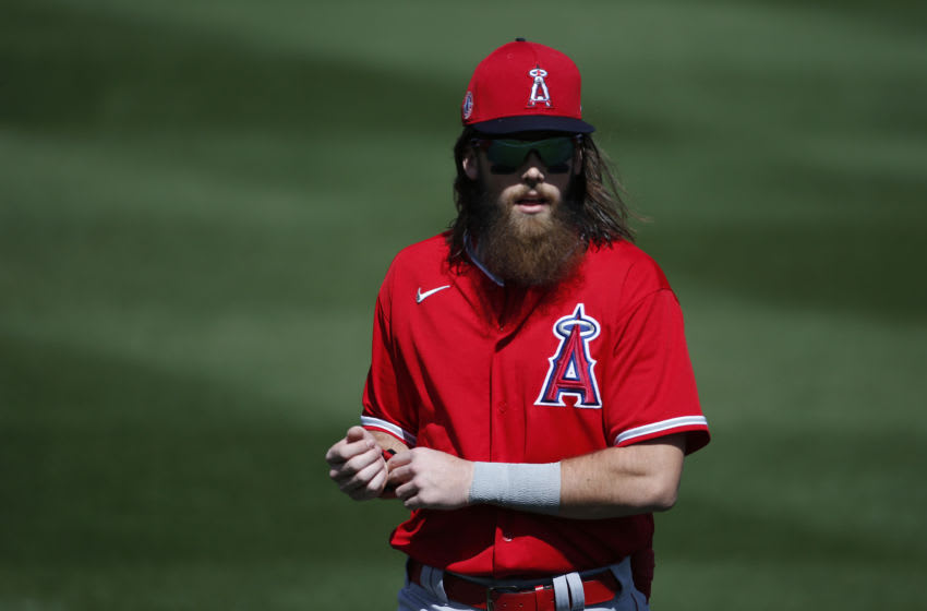 Brandon Marsh, Los Angeles Angels (Photo by Ralph Freso/Getty Images)