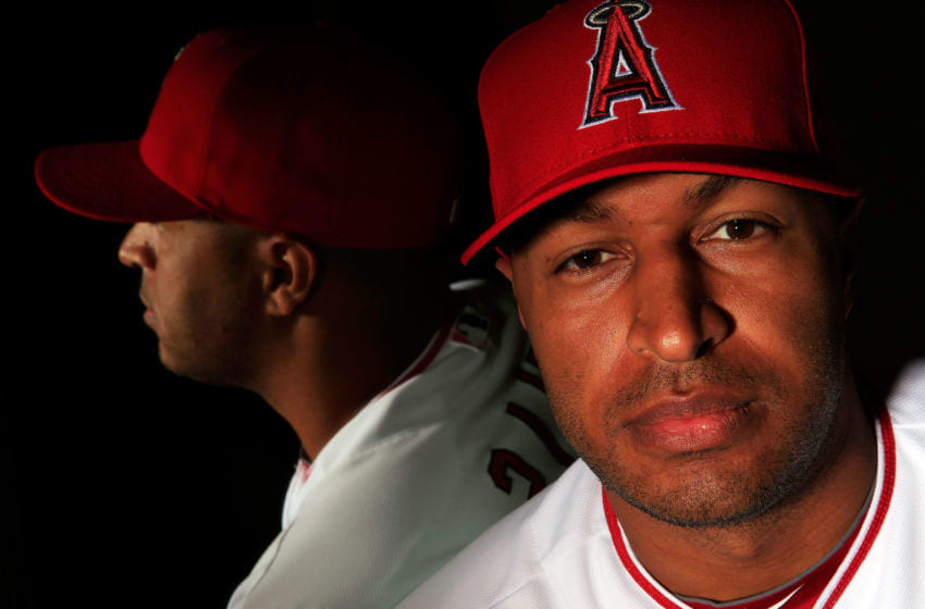 Vernon Wells, Los Angeles Angels, (Photo by Jamie Squire/Getty Images)