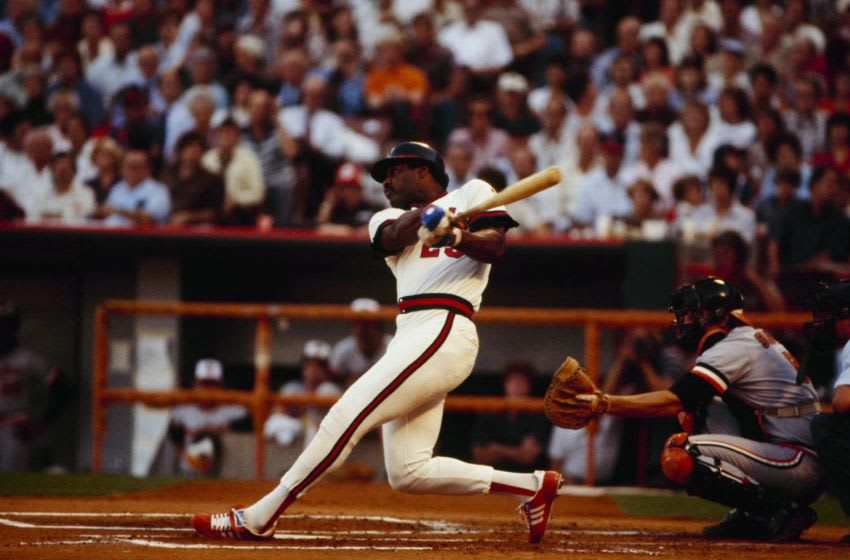 ANAHEIM, CA - OCTOBER 5, 1979: Don Baylor #25 of the California Angels bats against the Baltimore Orioles during Game Three of the 1979 ALCS at Anaheim Stadium on October 5, 1979 in Anaheim, California. (Photo by Getty Images)