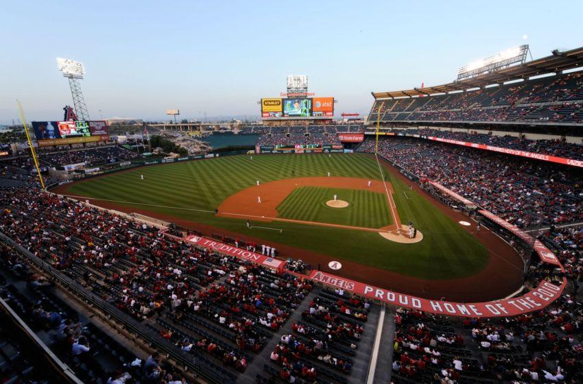 Angel Stadium, (Photo by Kevork Djansezian/Getty Images)