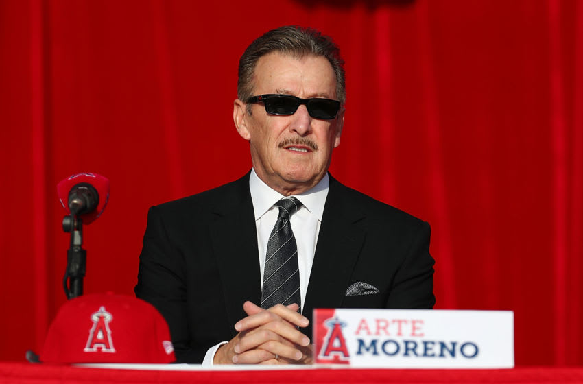 ANAHEIM, CA - DECEMBER 09: Owner Arte Moreno attends the Shohei Ohtani introduction to the Los Angeles Angels of Anaheim at Angel Stadium of Anaheim on December 9, 2017 in Anaheim, California. (Photo by Joe Scarnici/Getty Images)