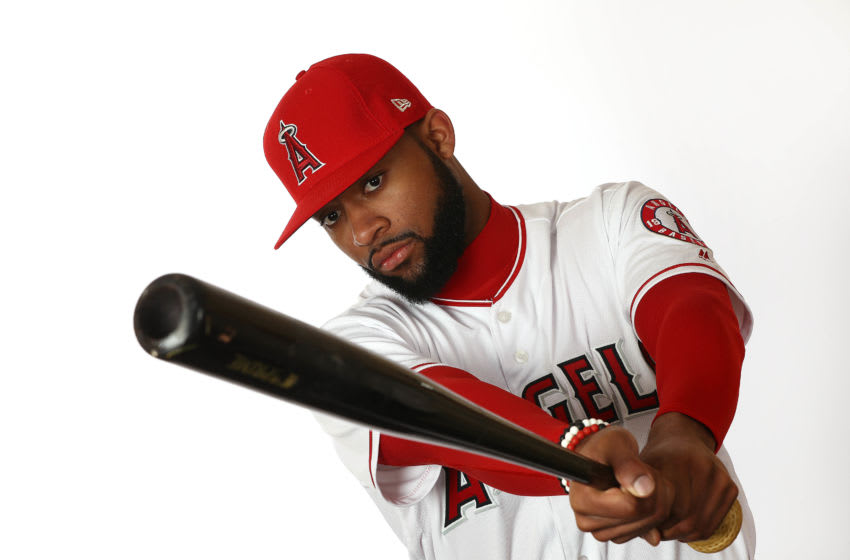 Jo Adell, Los Angeles Angels, (Photo by Jamie Squire/Getty Images)