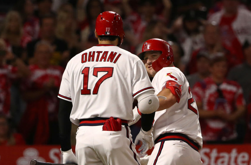 Mike Trout, Shohei Ohtani, Los Angeles Angels (Photo by Victor Decolongon/Getty Images)
