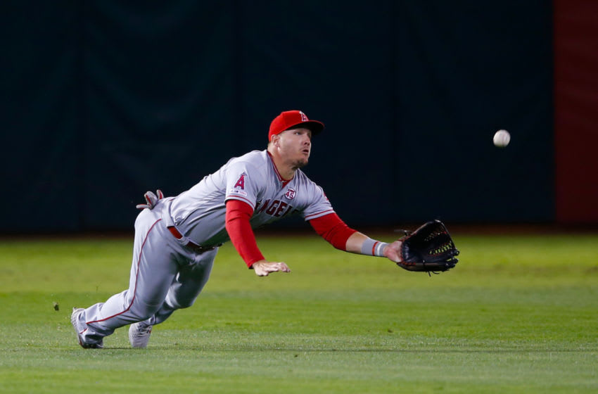 Mike Trout, Los Angeles Angels of Anaheim (Photo by Michael Zagaris/Oakland Athletics/Getty Images)
