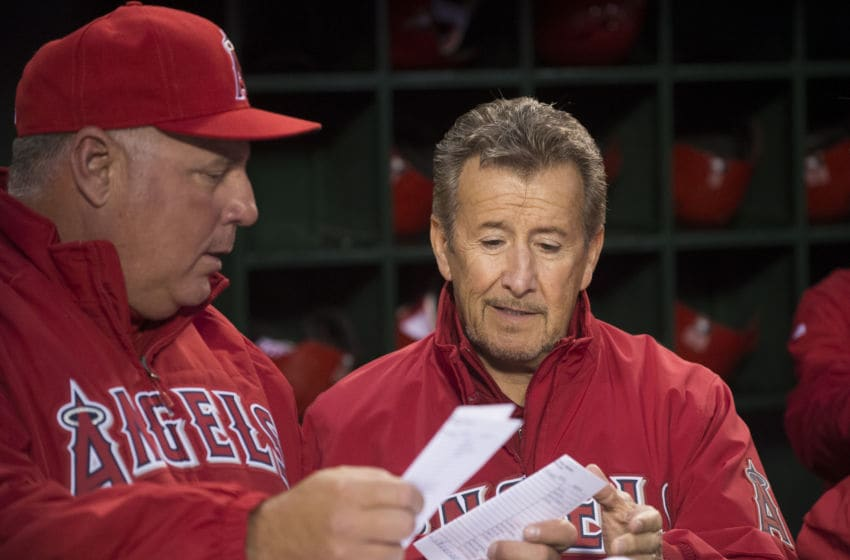 Mike Scioscia. Arte Moreno of the Los Angeles Angels of Anaheim (Photo by Matt Brown/Angels Baseball LP/Getty Images)