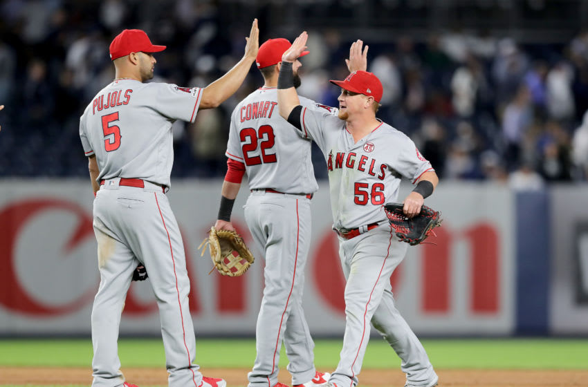 Los Angeles Angels celebrate (Photo by Elsa/Getty Images)