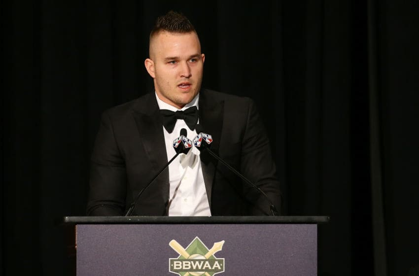 Mike Trout of the Los Angeles Angels (Photo by Mike Stobe/Getty Images)