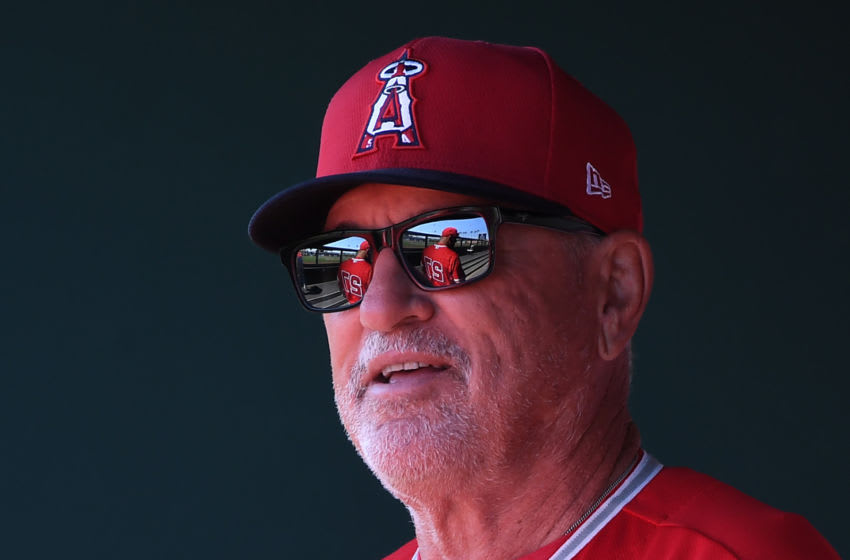 Joe Maddon, Los Angeles Angels (Photo by Norm Hall/Getty Images)