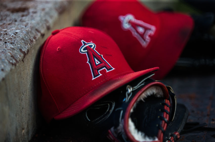 Los Angeles Angels hat (Photo by Rob Tringali/SportsChrome/Getty Images)