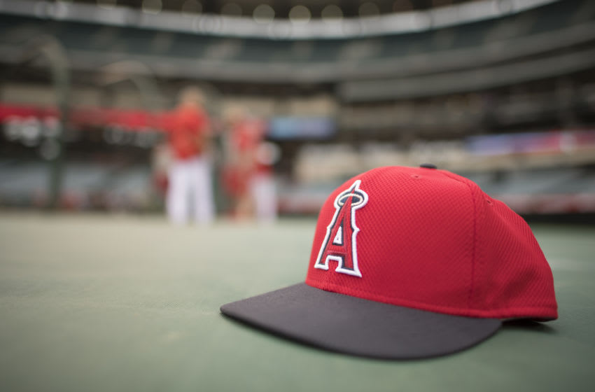 Los Angeles Angels hat (Photo by Matt Brown/Angels Baseball LP/Getty Images)