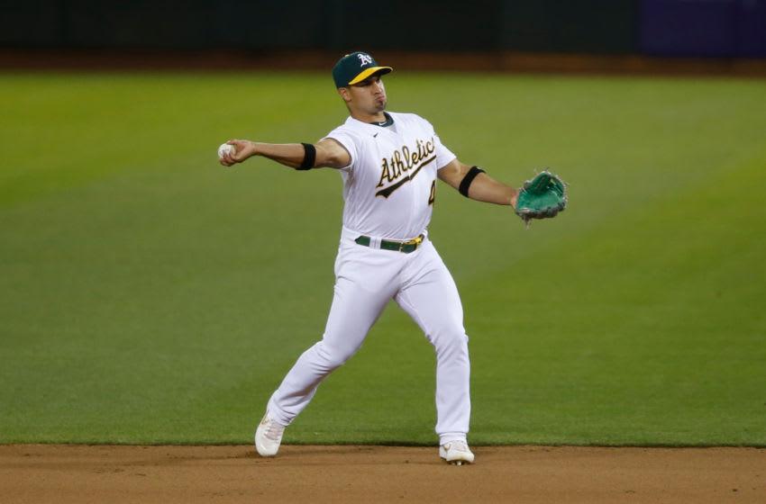 Franklin Barreto, Oakland Athletics (Photo by Michael Zagaris/Oakland Athletics/Getty Images)