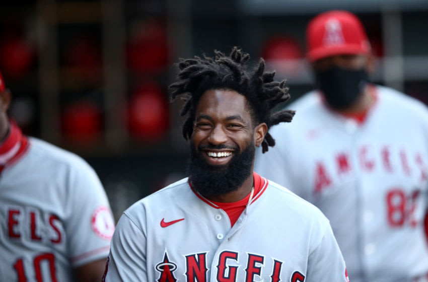Brian Goodwin, Los Angeles Angels (Photo by Ezra Shaw/Getty Images)