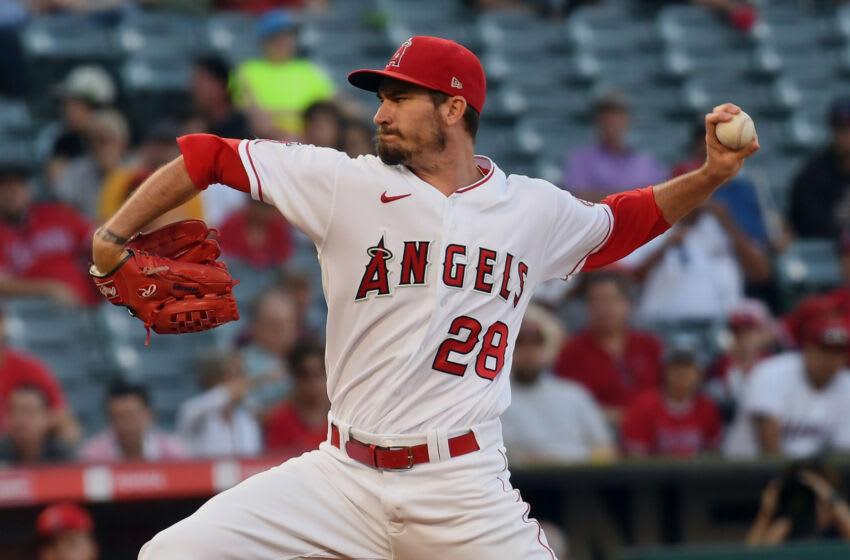 Andrew Heaney, LA Angels. Mandatory Credit: Richard Mackson-USA TODAY Sports