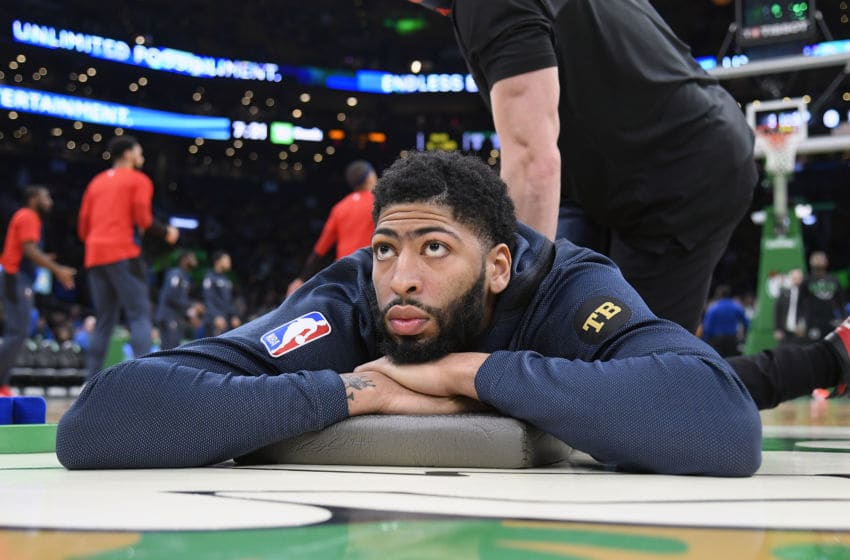 Anthony Davis Boston Celtics (Photo by Brian Babineau/NBAE via Getty Images)
