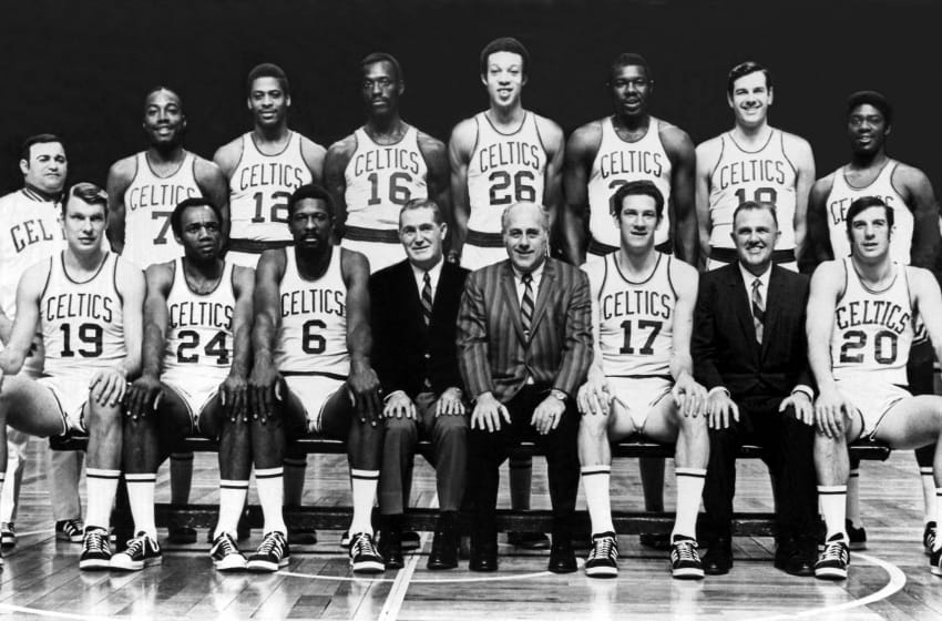 BOSTON - 1969: The 1968-69 World Champions. Copyright NBAE 2002 (Photo by NBAE/ NBAE/ Getty Images)