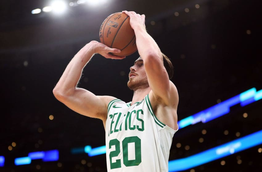 Gordon Hayward and the Boston Celtics are letting it fly from deep this season. (Photo by Adam Glanzman/Getty Images)