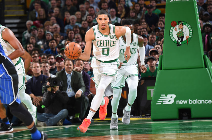 The Boston Celtics can't let the Cavs force them to play in the halfcourt the whole game. (Photo by Brian Babineau/NBAE via Getty Images)