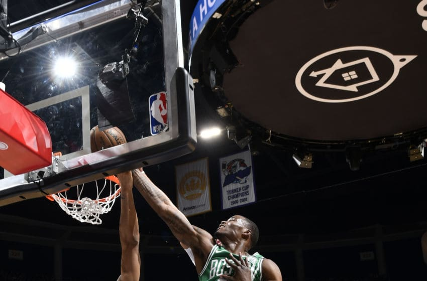 ORLANDO, FL - JANUARY 24: Javonte Green #43 of the Boston Celtics shoots the ball against the Orlando Magic on January 24, 2020 at Amway Center in Orlando, Florida. NOTE TO USER: User expressly acknowledges and agrees that, by downloading and or using this photograph, User is consenting to the terms and conditions of the Getty Images License Agreement. Mandatory Copyright Notice: Copyright 2020 NBAE (Photo by Fernando Medina/NBAE via Getty Images)