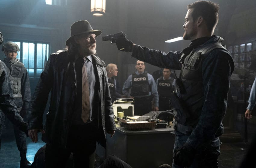 GOTHAM: L-R: Donal Logue and Shane West in the
