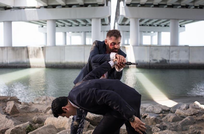 Daniel MacPherson stars as Sgt. Samuel Wyatt in Cinemax's Strike Back. Photo Credit: Sophie Mutevalian/Courtesy of Cinemax.