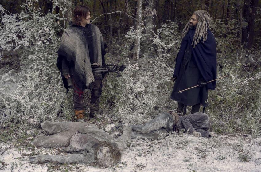 Norman Reedus as Daryl Dixon, Khary Payton as Ezekiel- The Walking Dead _ Season 9, Episode 16 - Photo Credit: Gene Page/AMC