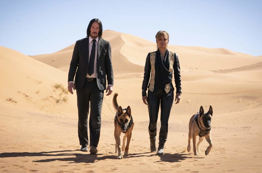Keanu Reeves and Halle Berry in John Wick- Chapter 3 - Parabellum / Photo Credit: Mark Rogers - © Lionsgate