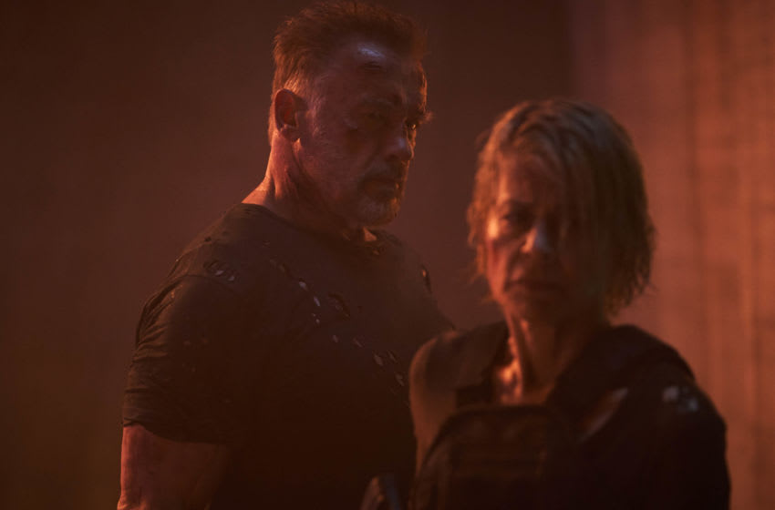 Arnold Schwarzenegger and Linda Hamilton star in Skydance Productions and Paramount Pictures'