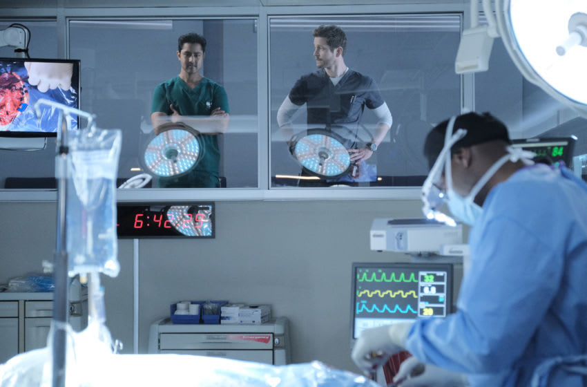 THE RESIDENT: L-R: Manish Dayal, Matt Czuchry and Morris Chestnut in the