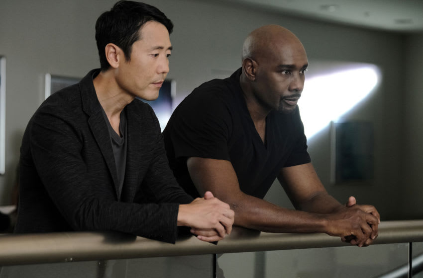 THE RESIDENT: L-R: Guest star Rob Yang and Morris Chestnut in the