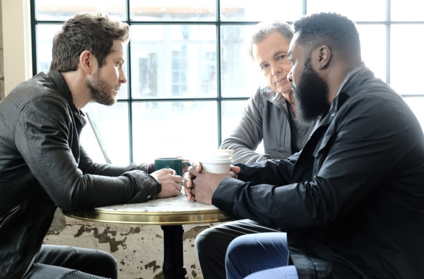 THE RESIDENT: L-R: Matt Czuchry, Bruce Greenwood and Malcolm-Jamal Warner in the