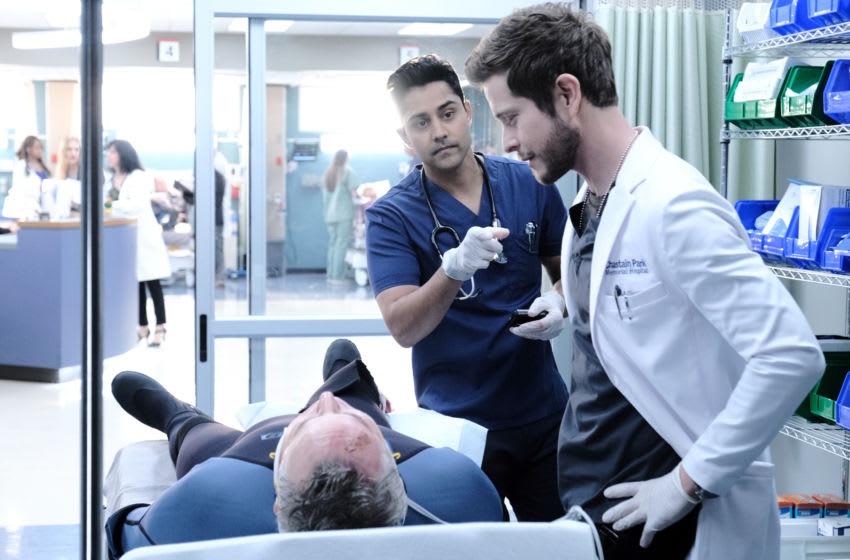THE RESIDENT: L-R: Manish Dayal and Matt Czuchry in the