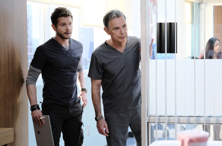 THE RESIDENT: L-R: Matt Czuchry and Bruce Greenwood in the