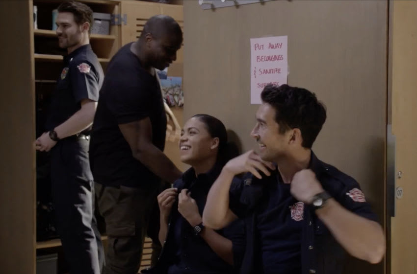 STATION 19 - ÒNothing Seems the SameÓ Ð When the COVID-19 pandemic hits Seattle, the Station 19 crew leans on each other for support. Andy tries to make sense of her motherÕs return, while Sullivan settles into a new routine. And itÕs all-hands-on-deck when a group of teenagers unintentionally starts a wild fire on the season four premiere of ÒStation 19,Ó airing THURSDAY, NOV. 12 (8:00-9:00 p.m. EST), on ABC. (ABC) GREY DAMON, OKIERIETE ONAODOWAN, BARRETT DOSS, JAY HAYDEN