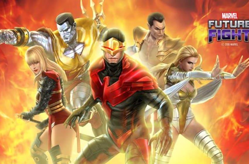 Photo: Marvel Future Fight X-Men PHOENIX FIVE Uniforms.. Image Courtesy Netmarble Corp., Marvel Entertainment