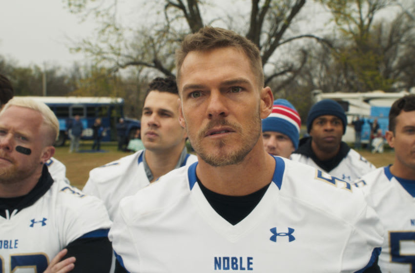 Alan Ritchson stars in Lionsgate's new comedy The Turkey Bowl. Photo Credit: Lionsgate/Courtesy of DDPR.