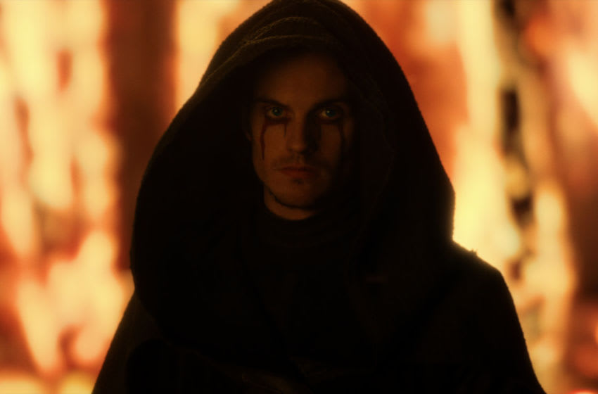 CURSED (L TO R) DANIEL SHARMAN as THE WEEPING MONK in episode 102 of CURSED Cr./Netflix © 2020